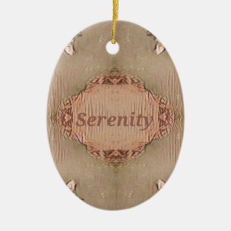 Chic Light Tan Peach Modern Serenity Ceramic Ornament