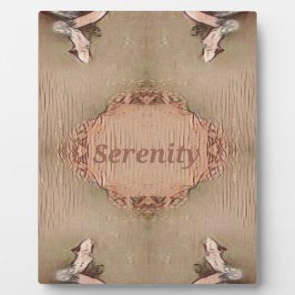Chic Light Tan Peach Modern Serenity Plaque