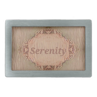 Chic Light Tan Peach Modern Serenity Rectangular Belt Buckles
