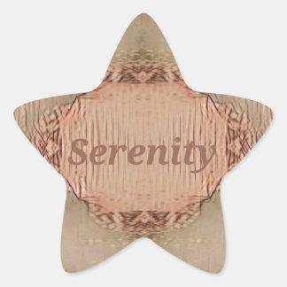 Chic Light Tan Peach Modern Serenity Star Sticker