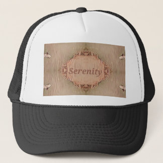 Chic Light Tan Peach Modern Serenity Trucker Hat