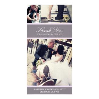 CHIC LILAC GRATITUDE | WEDDING THANK YOU CARD