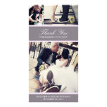 CHIC LILAC GRATITUDE | WEDDING THANK YOU CARD PHOTO CARD TEMPLATE