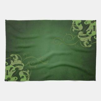 Chic Lime Scroll Green Kitchen Towels