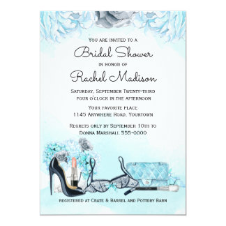 Chic Lingerie Shower 13 Cm X 18 Cm Invitation Card