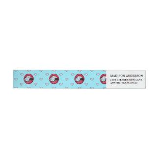 Chic Lips Diamond Girly Wrap Around Label