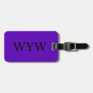CHIC LUGGAGE/BAG/GIFT/TAG 194 PURPLE, SOLID TAG FOR LUGGAGE