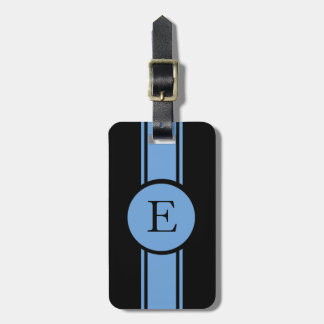 CHIC LUGGAGE/BAG TAG_153 BLUE/BLACK/MONOGRAM BAG TAG