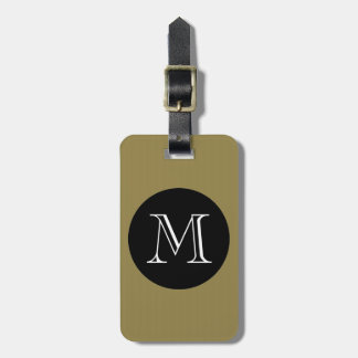 CHIC LUGGAGE/BAG TAG_47 GOLD/BLACK/MONOGRAM BAG TAG