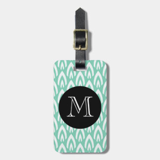CHIC LUGGAGE/BAG TAG_MODERN MINT/WHITE/BLACK LUGGAGE TAG