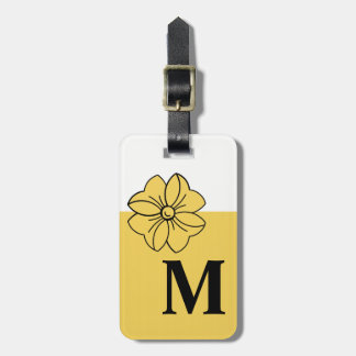 CHIC LUGGAGE/BAG TAG_PANTONE 2017_PRIMROSE YELLOW LUGGAGE TAG