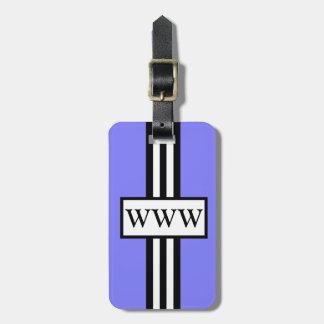 CHIC LUGGAGE/GIFT TAG_171 PERIWINKLE/WHITE/BLACK BAG TAG