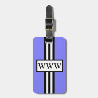 CHIC LUGGAGE/GIFT TAG_171 PERIWINKLE/WHITE/BLACK LUGGAGE TAG
