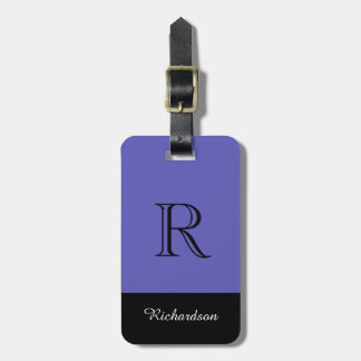 CHIC LUGGAGE TAG_BLACK/PERIWINKLE/WHITE LUGGAGE TAG