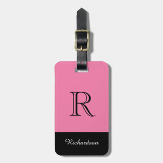 CHIC LUGGAGE TAG_BLACK/PINK/WHITE BAG TAG