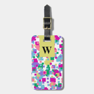 CHIC LUGGAGE TAG_FUN/MODERN PASTEL CONFETTI LUGGAGE TAG