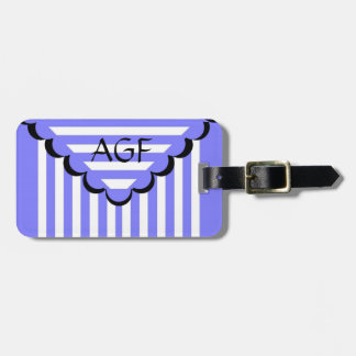 CHIC LUGGAGE TAG_GIRLY PERIWINKLE/WHITE STRIPES LUGGAGE TAG