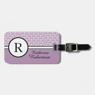 CHIC LUGGAGE/TAG_MODERN NAME_ LILAC/WHITE LUGGAGE TAG