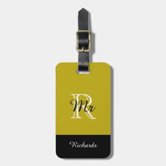 "CHIC LUGGAGE TAG_""Mr"" 191 GOLD/BLACK/WHITE Luggage Tag"