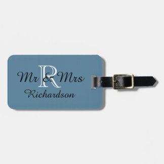 CHIC LUGGAGE TAG_MR & MRS_SCUBA BLUE LUGGAGE TAG