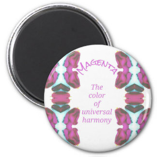Chic 'Magenta Color of Universal Harmony Artistic 6 Cm Round Magnet