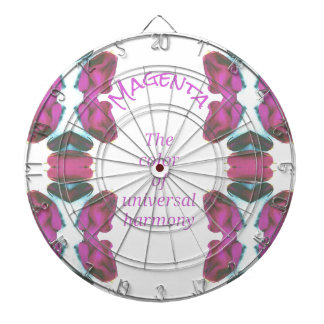 Chic 'Magenta Color of Universal Harmony Artistic Dartboard