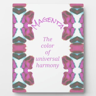 Chic 'Magenta Color of Universal Harmony Artistic Display Plaques