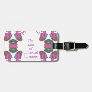 Chic 'Magenta Color of Universal Harmony Artistic Luggage Tag
