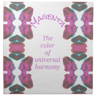 Chic 'Magenta Color of Universal Harmony Artistic Napkin