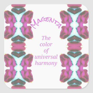 Chic 'Magenta Color of Universal Harmony Artistic Square Sticker