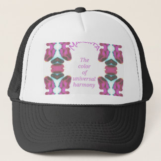 Chic 'Magenta Color of Universal Harmony Artistic Trucker Hat