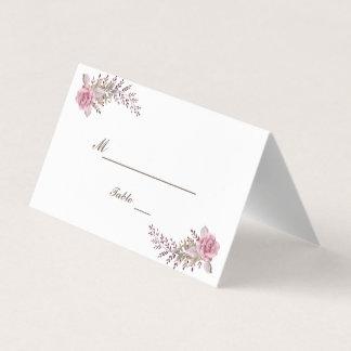 Chic Marsala Maroon Floral Watercolor Wedding Card