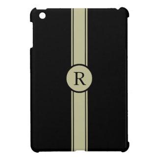 CHIC MINI-IPAD CASE_193 STONE/BLACK, MONOGRAM CASE FOR THE iPad MINI