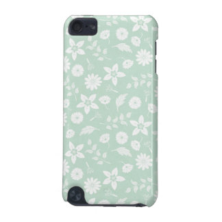Chic Mint and White Floral iPod Touch (5th Generation) Case