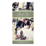 CHIC MINT GRATITUDE | WEDDING THANK YOU CARD PICTURE CARD