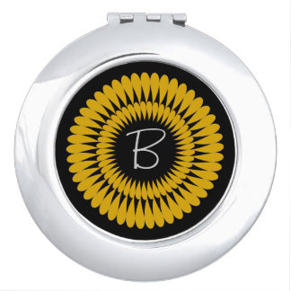 CHIC MIRROR COMPACT_ YELLOW WILDFLOWER COMPACT MIRROR
