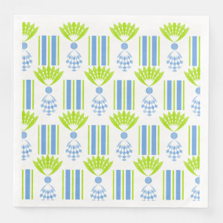 CHIC MOD TROPICAL BLUE ISLAND PINEAPPLES PAPER NAPKIN