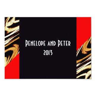 Chic Modern Art-Deco Chevron Bride/House-of-Grosch 13 Cm X 18 Cm Invitation Card
