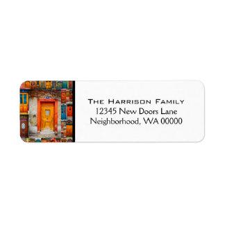 Chic Modern Classy Doors of the World Return Address Label