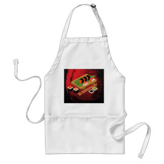 Chic Modern Elegant Black & Red Sushi Cook Standard Apron