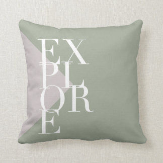 Chic & Modern Explore | Two Toned | Square Pillow