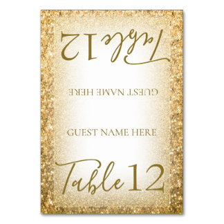 Chic Modern Hand Lettered Glitter Glam Card
