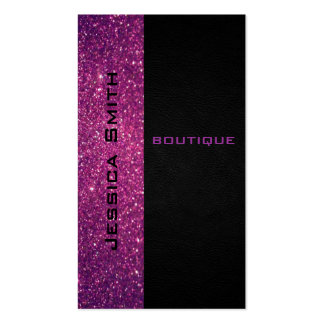 Chic modern luxury glittery leather look Double-Sided standard business cards (Pack of 100)