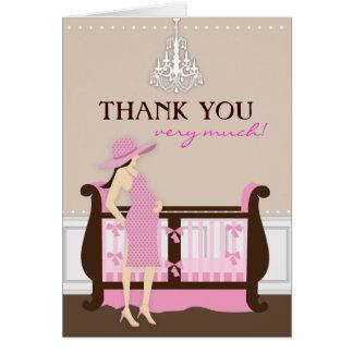 Chic Modern Mum Baby Shower Thank You Card
