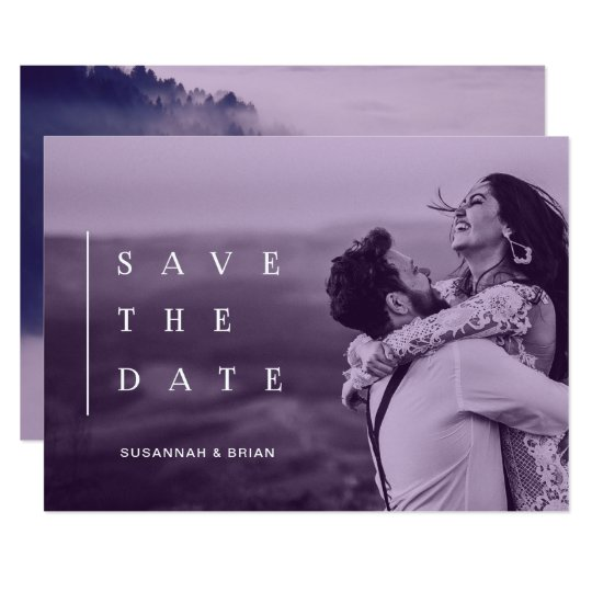 Chic Modern SAVE THE DATE Ultraviolet Card