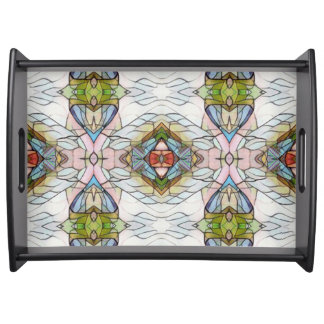 Chic Modern Stained Glass Serving Tray