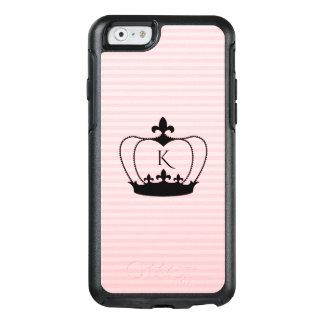 Chic Monogram Fleur-de-lis Crown iPhone 6/6S Case