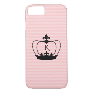 Chic Monogram Fleur-de-lis Crown iPhone 8/7 Case