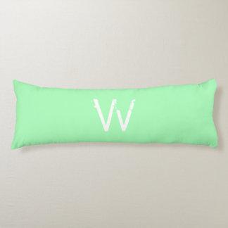 Chic Monogram Mint Green Body Cushion