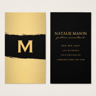 Chic Monogram on Black/Gold Brushed
